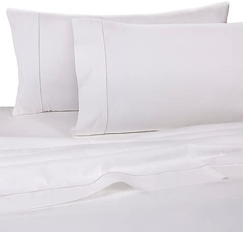 Finest Sateen 725-Thread-Count King Deep Pocket Fitted Sheet in White