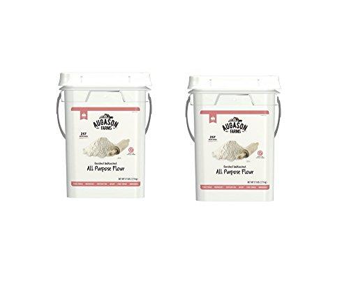 Augason Farms Enriched Unbleached All Purpose Flour Emergency Bulk Food Storage 4-Gallon Pail 257 Servings (pack of 2) by Augason Farms
