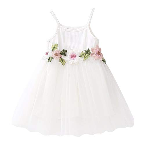 RAINED-Toddler Baby Girls Princess Dress Dot Tulle Tutu Skirt Ruched Patchwork Lace Party Clothes