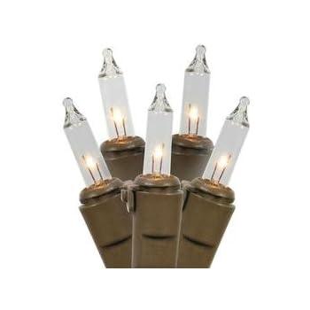 vickerman w4b0501 brown wire christmas light string 50 clear lights - Brown Wire Christmas Lights