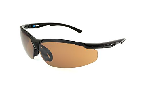Extreme Optiks- Unisex EOG 4 BLK Golf HD - Hi Def Sunglasses