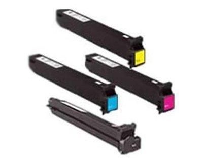 Konica Minolta Part# TN-321K. TN-321C. TN-321M. TN-321Y Toner Cartridge Set (OEM) ()