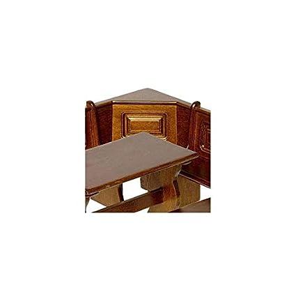 Amazon Com Dollhouse Miniature Walnut Kitchen Nook Corner