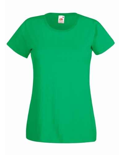 Fruit Of The Loom Ladies/Womens Lady-Fit Valueweight Short Sleeve T-Shirt (M) (Kelly (Fruit Of The Loom Heavyweight T-shirt)
