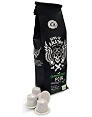 Sons of Amazon COMPOSTABLE Coffee PODS for Nespresso* Machines - 40 Capsules of Strong Fairtrade Coffee - Recyclable Biodegradable