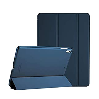 """ProCase iPad Air (3rd Gen) 10.5"""" 2019 / iPad Pro 10.5"""" 2017 Case, Ultra Slim Lightweight Stand Smart Case Shell with Translucent Frosted Back Cover for Apple iPad Air (3rd Gen) 10.5"""" 2019 –Navy Blue"""