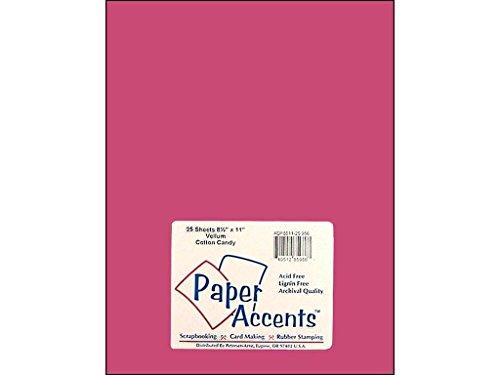 Accent Design Paper Accents Vellum 8.5x11 27# Cotton Candy - Paper Accents Vellum