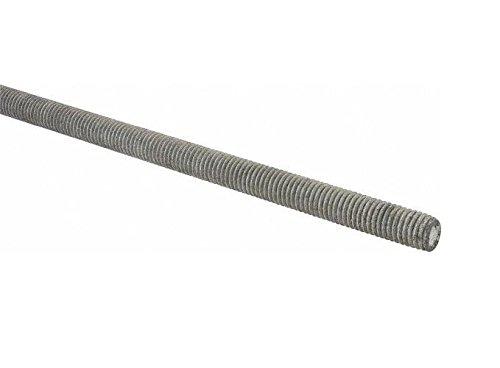 Steel Fully Threaded Rod, Galvanized, 1/2