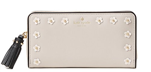 Kate Spade Crescent Street Lacey Smooth Leather Wallet , Crisp Linen Multi by Kate Spade New York