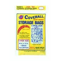 Warp Brothers CB-40 Banana Bags Storage Bags, 40-Inches by 72-Inches, 4-Count, Yellow, Yellow, 1 (Heavy Plastic Storage Bag)