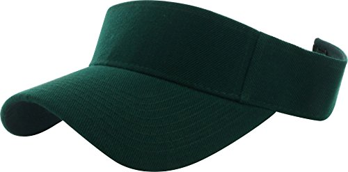 Dealstock Plain Men Women Sport Sun Visor One Size Adjustable Cap (29+ Colors) Jungle Green ()