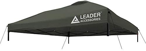 Leader Accessories Pop Up Canopy 10×10 Replacement Canopy Cover for Instant Canopy Tent Grey