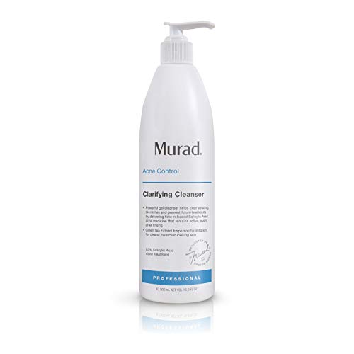 Murad Clarifying Cleanser - Gentle Exfoliating Facial Cleanser with Salicylic Acid 16.9 Fl Oz Jumbo Size