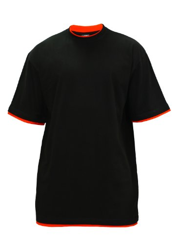 "Urban : ""Contrast Tall Tee"" Size: L, Color: black-red …TB029A"