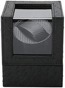 Struzzo Pelle Singolo Watch Winder, Silenzioso Correre Rotazione del Motore, Alimentata A Batteria O L\'alimentatore CA, Meccanica di Vigilanza di Automatic Guarda avvolgitore