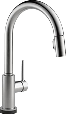Delta Faucet Trinsic Single-Handle Kitchen Sink Faucet with Pull Down Sprayer and Magnetic Docking Spray Head
