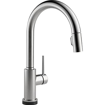 Delta 9159T AR DST Trinsic Single Handle Pull Down Touch Kitchen Faucet  With Touch2O Technology And Magnetic Docking Spray Head, Arctic Stainless