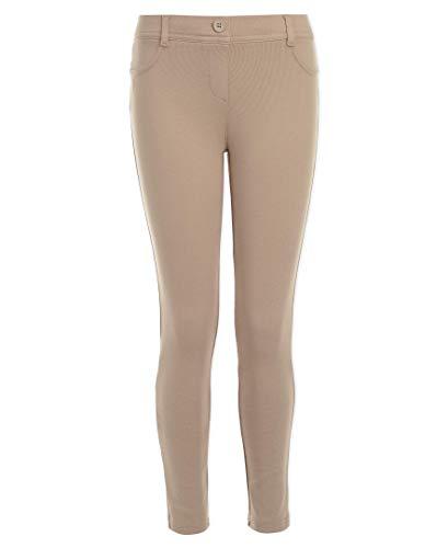Nautica Girls' Big School Uniform Stretch Interlock Legging, Khaki, 10 ()