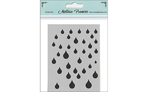 Melissa Frances Stencil 3x4 Rain Drops