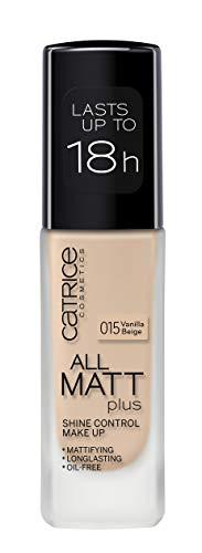 Catrice Full Coverage Foundation Makeup (015 Vanilla Beige) - All Matt Plus Shine Control, Vegan & Paraben free (Best Of Catrice Makeup)