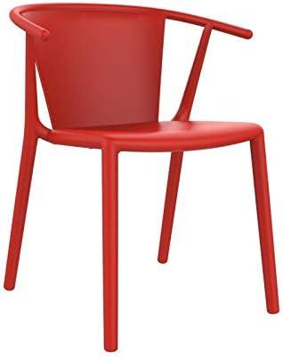 resol Set de 2 sillas de diseño Steely para Interior, Exterior, jardín - Color Rojo: Amazon.es: Hogar