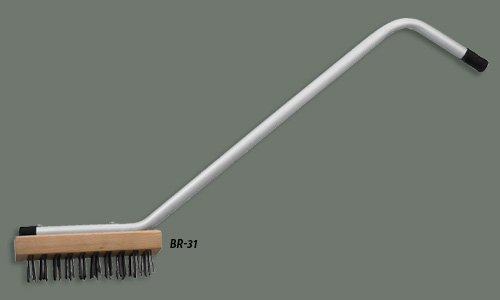 Winco BR-31 Steel Wire Broiler Bristle Brush, 7-Inch