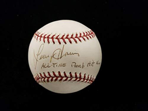 King Autographed Baseball - Lenny Harris 'All-Time Pinch Hit King' Autographed ML Baseball - Autographed Baseballs