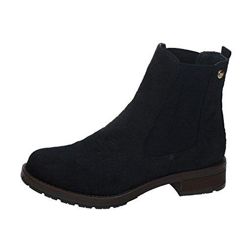 XTI Botin Sra Antelina Navy, Zapatos de Tacón con Punta Cerrada para Mujer MARINO
