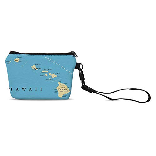 Hawaiian Decorations Simple Coin Purse,for Women,5.9