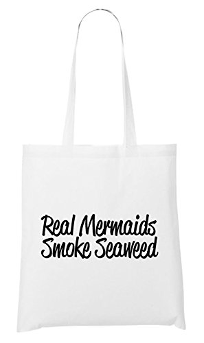Real Mermaids Smoke Seaweed Bag White