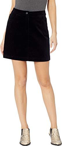 1.State Women's Pinwale Cord Mini Skirt Rich Black 10 ()