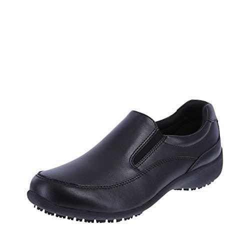 safeTstep Slip Resistant Women's Black Women's Kelly Slip-On 11 Wide