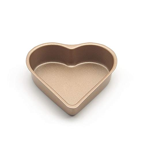 (Best Quality - Home - 6-Pack 3.5 Inch Heart-Shaped Mini Pie Pan, Muffin Cupcake Molds, Tins - NonStick bakeware - by SeedWorld - 1)