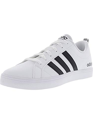 Adidas Women's Vs Pace Footwear White / Core Black Ankle-High Leather Fashion Sneaker - 7.5