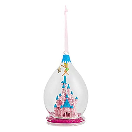 Tinkerbell Christmas Decorations Uk.Official Disney Tinker Bell Enchanted Castle Bauble Christmas Decoration Pink