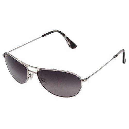 Maui Jim GS245-17 Silver/Neutral Grey Baby Beach Polarized - Beach Maui Jim Silver Sunglasses Baby
