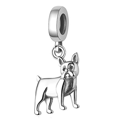 - EVESCITY Several Dog Puppy Breeds 925 Sterling Silver Beads for Charm Bracelets ♥ Best Jewelry Gifts for Pet Owners ♥ (French Bulldog Head)
