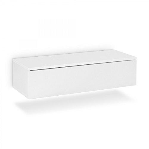 Galdem Hänge Nachttisch Mit Schublade Nachtkommode Nachtkonsole Beistelltisch Nachtschrank Hängenachttisch Weiß