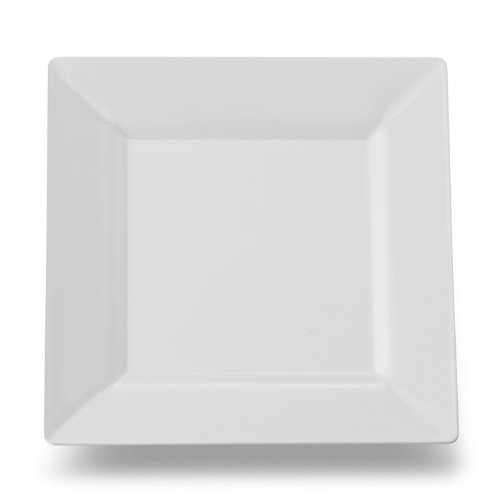 EMI Yoshi EMI-SP6W Square Plastic Dessert Plate, 6.5-Inch, White, 120 Per Case