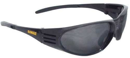 Dewalt DPG56B-2C Ventilator Black Frame Smoke Lens High Performance Protective Safety Glasses with Wraparound Frame