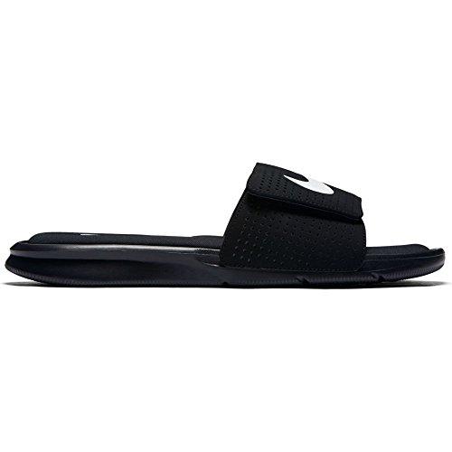 NIKE Men's Ultra Comfort Slide Black/Black-White 11 M US by NIKE