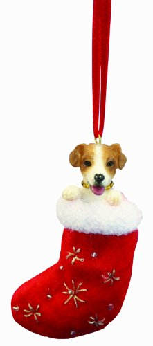 Jack Russell Christmas Stocking Ornament with