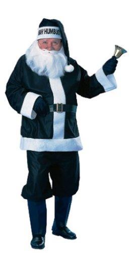 Rubie's Costume Bah Humbug Santa Suit, Black/White, Standard Costume