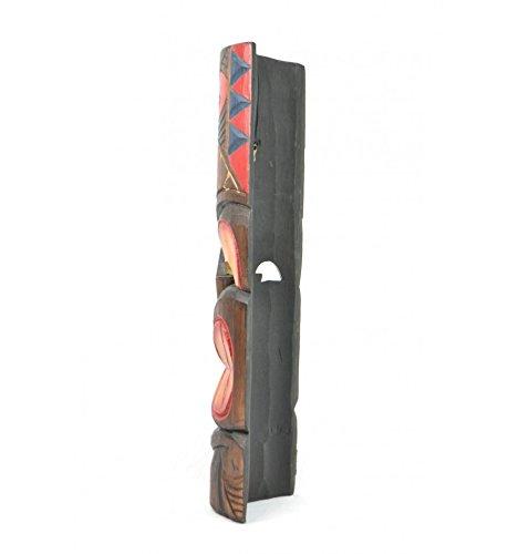 Máscara étnica Tiki, 50 cm de alto, madera Decoración Maori.: Amazon.es: Hogar