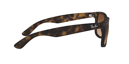 Ray-Ban RB4165 Justin Sunglasses, Rubber Light Havana/Poly Brown Gradient, 55mm