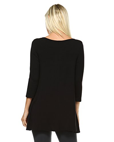 6cb59c87d855ed Amie Finery Tunic Tops For Leggings For Women 3 4 Sleeve Shirts For Women  Long Made