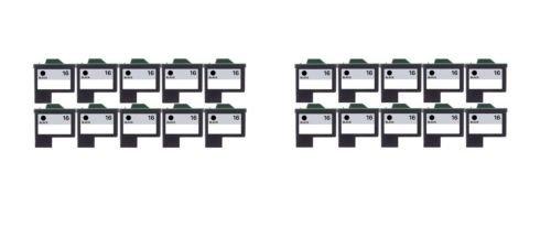 20/Pack 16 Black ink cartridges for Lexmark Compatible with: Color Jet Printer Z34 Z35 Z515 Z2600 Color Jet Printer i3 Z13 Z23 Z24 Z25 Printrio X1155 X1160 X1170 X1180 X1190 (Z13 Jet Printer)