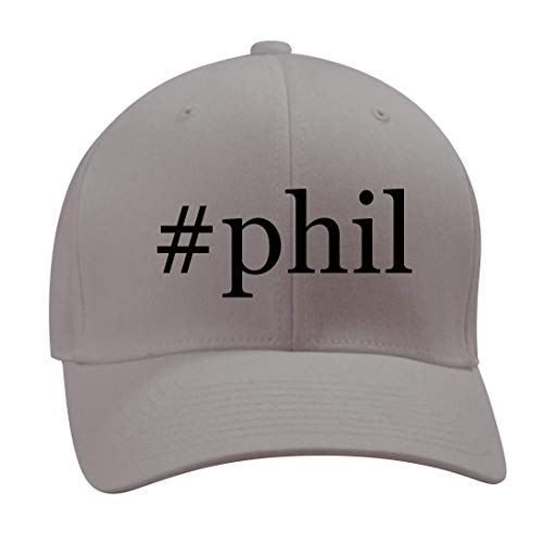 #Phil - A Nice Hashtag Men's Adult Baseball Hat Cap, Silver, Small/Medium