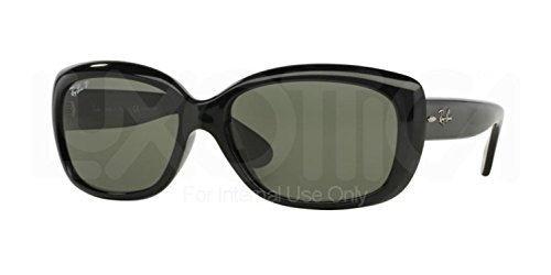 Ray-Ban Womens Jackie Ohh Sunglasses (RB4101) Black/Green Plastic,Nylon - Polarized - - Rb4101 Ban Ray
