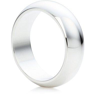 Wedding Rings Direct 6mm Sterling Silver DShape Wedding Ring 65g
